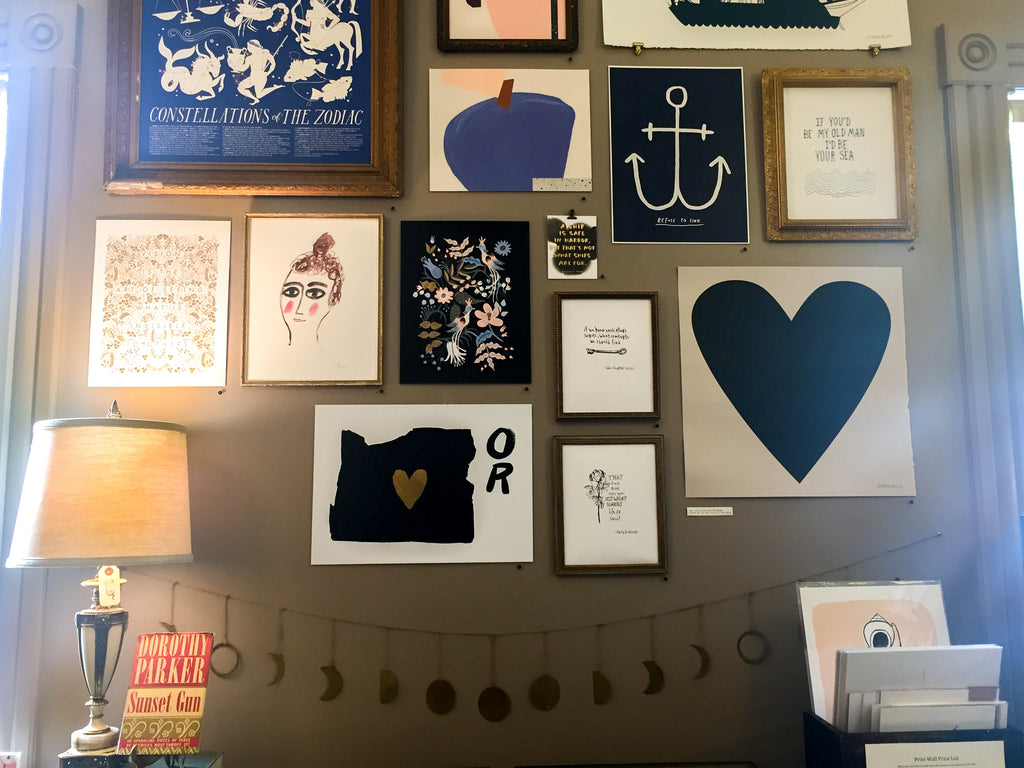 Portland, Oregon boutique Noun offers a whimsical assortment of prints.