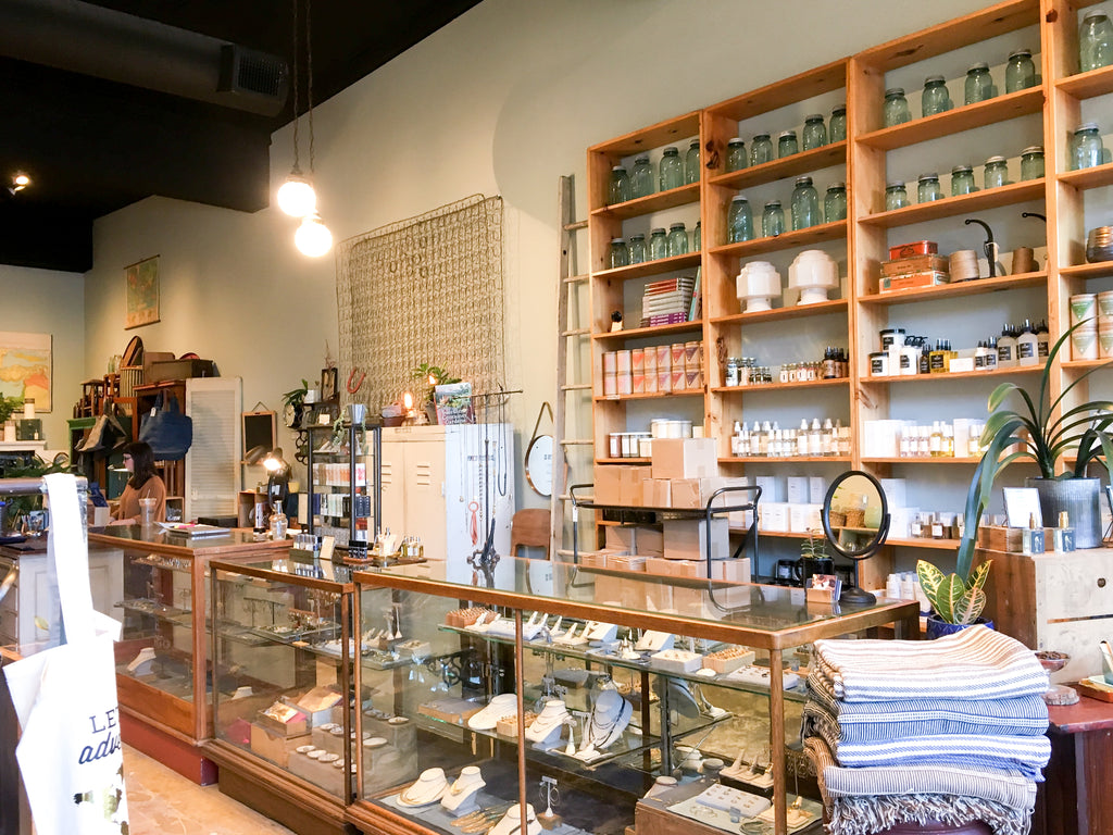 Porch Light is a locally owned boutique in Portland Oregon featuring vintage and new home goods.