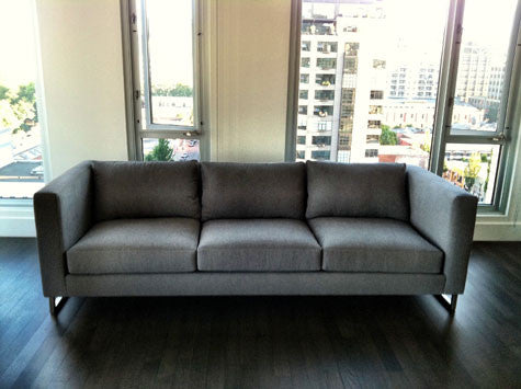 Furniture Legs Los Angeles custom modern couch with metal legs – perch furniture