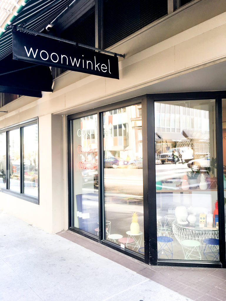 The design shop Woonwinkel is located in downtown Portland, Oregon