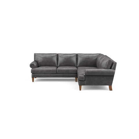 The Carlisle Sofa Sectional in grey leather