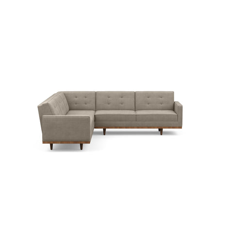 The Irving sofa sectional is mid-century inspired & beautiful in taupe