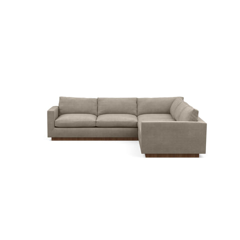 The Lowe Sofa Sectional in taupe represents minimalistic home design