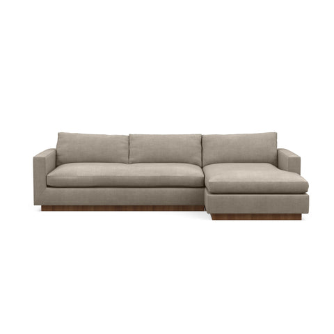 The Lowe Sofa Chaise in taupe reflects minimalistic home design