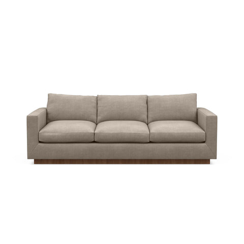 The Lowe Sofa in taupe reflects minimalistic home design