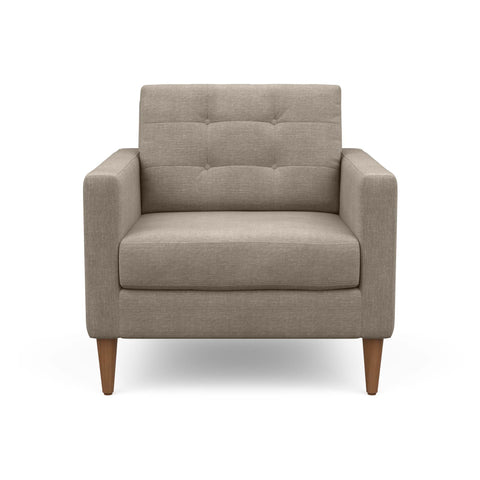 The mid-century modern Quinn Arm Chair in taupe