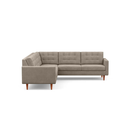 The mid-century modern Quinn Sofa Sectional in taupe