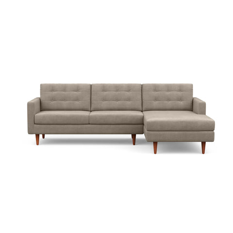 The mid-century modern Quinn Sofa Chaise in taupe