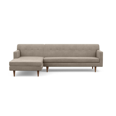 "The ""Mad Men"" inspired Sterling Sofa Chaise in taupe screams mid-century design"