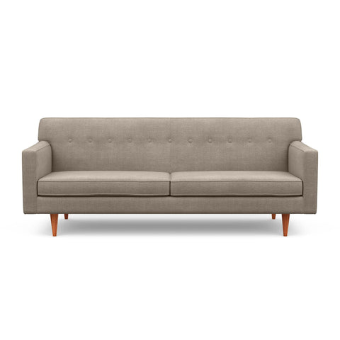 "The ""Mad Men"" inspired Sterling Sofa in taupe screams mid-century design"