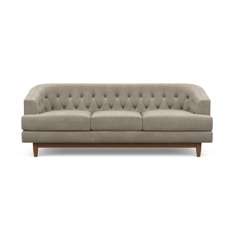 The Taylor Sofa in taupe is Hollywood Regency furniture at its best.