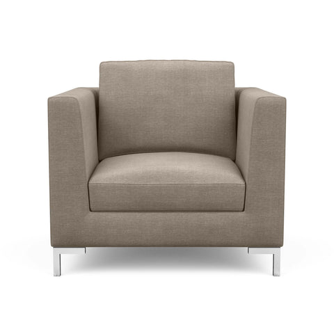 The Verona arm chair in taupe offers a modern Italian look