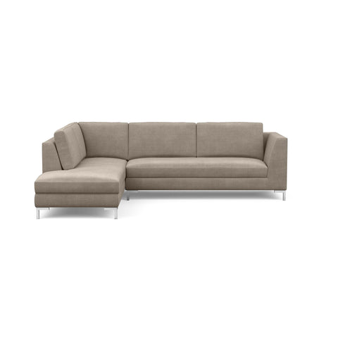 The Verona Sofa Sectional in taupe offers a modern Italian look