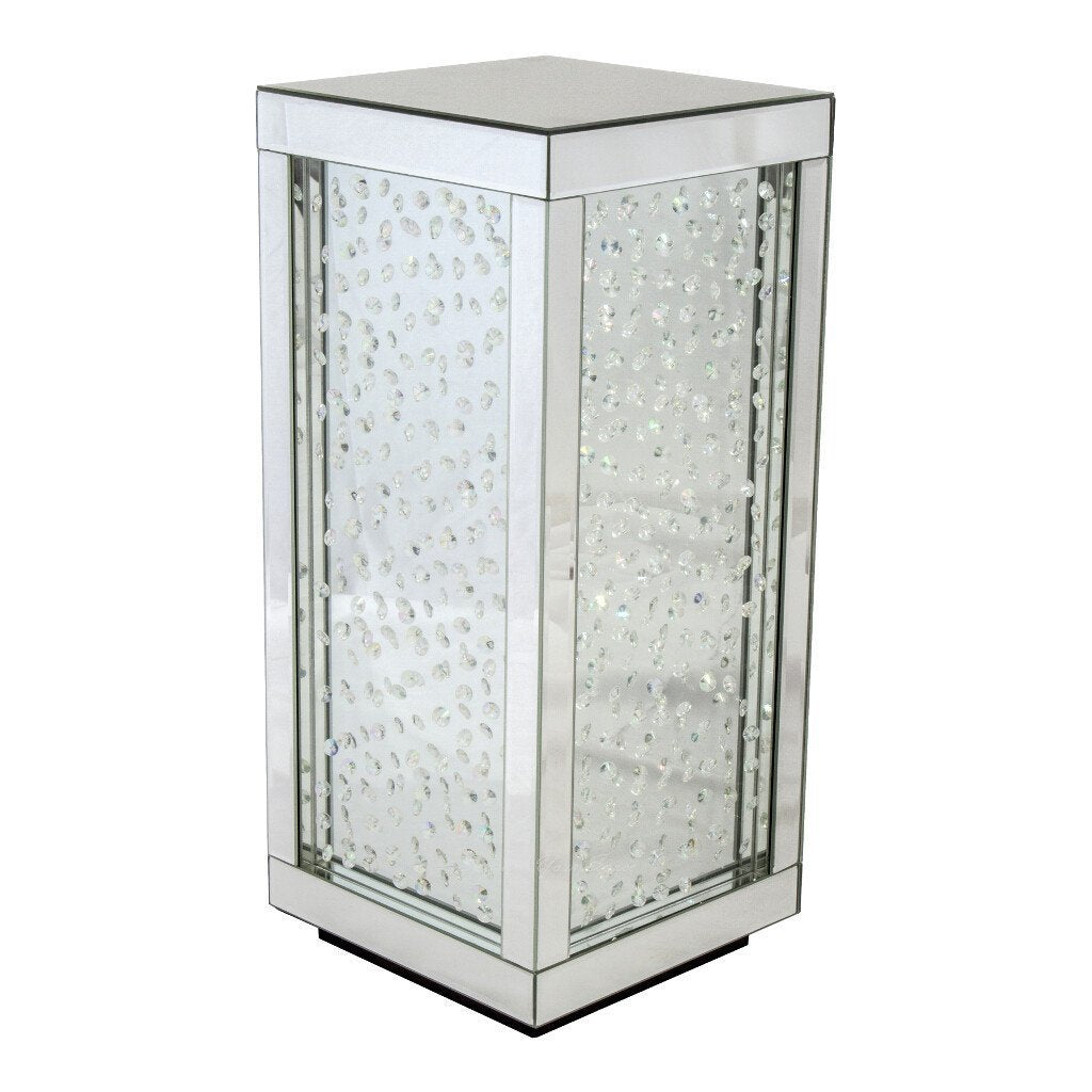 Sparkle Your Space. Mirrored Corner Table ...