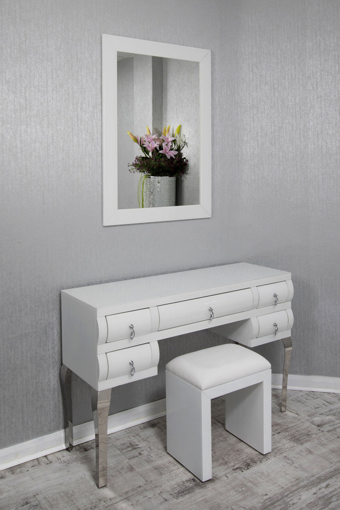 Seattle White Dressing Table Sparkle Your Space Ltd
