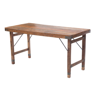 MESA DE MADERA ANTIGUA PLEGABLE 150