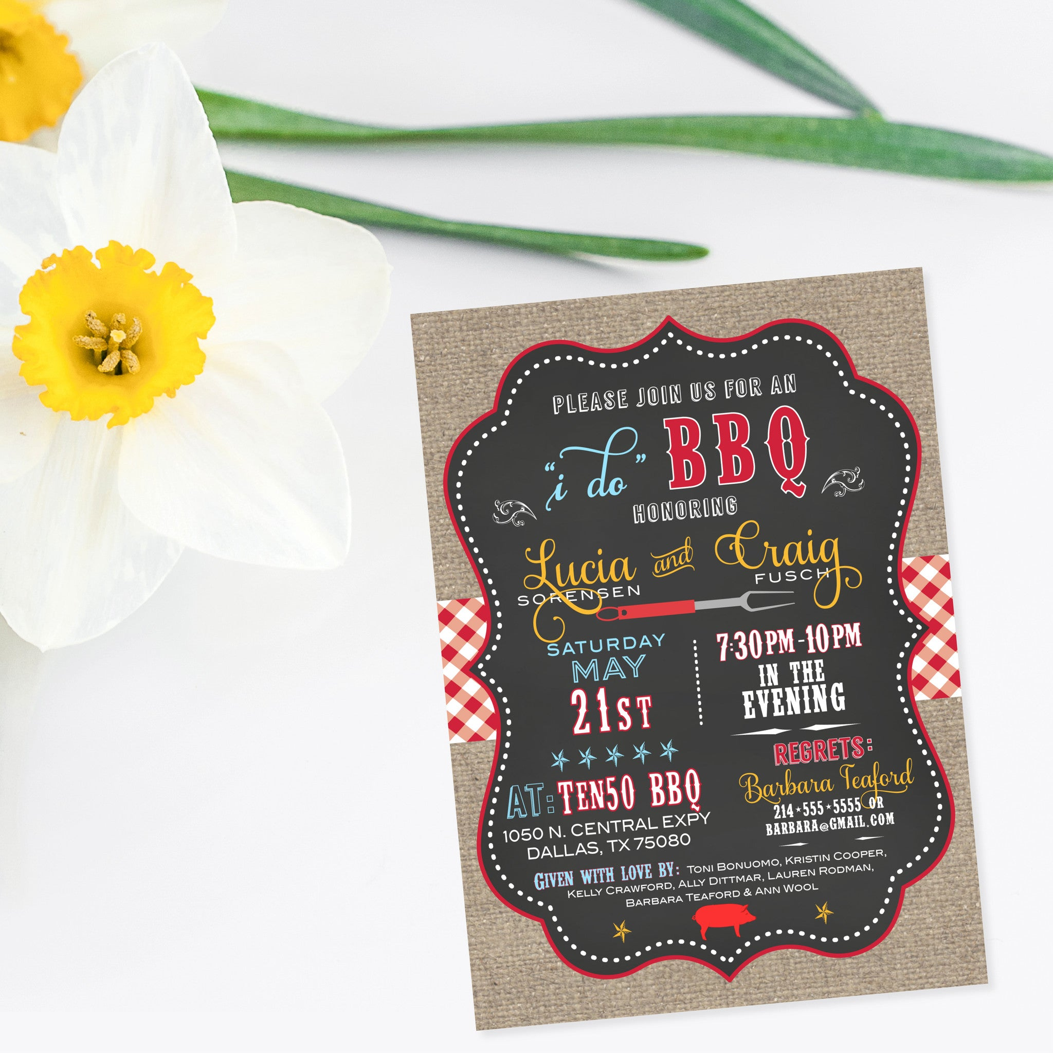 Engagement Party Invitations and Save the Dates - Southern Sociable
