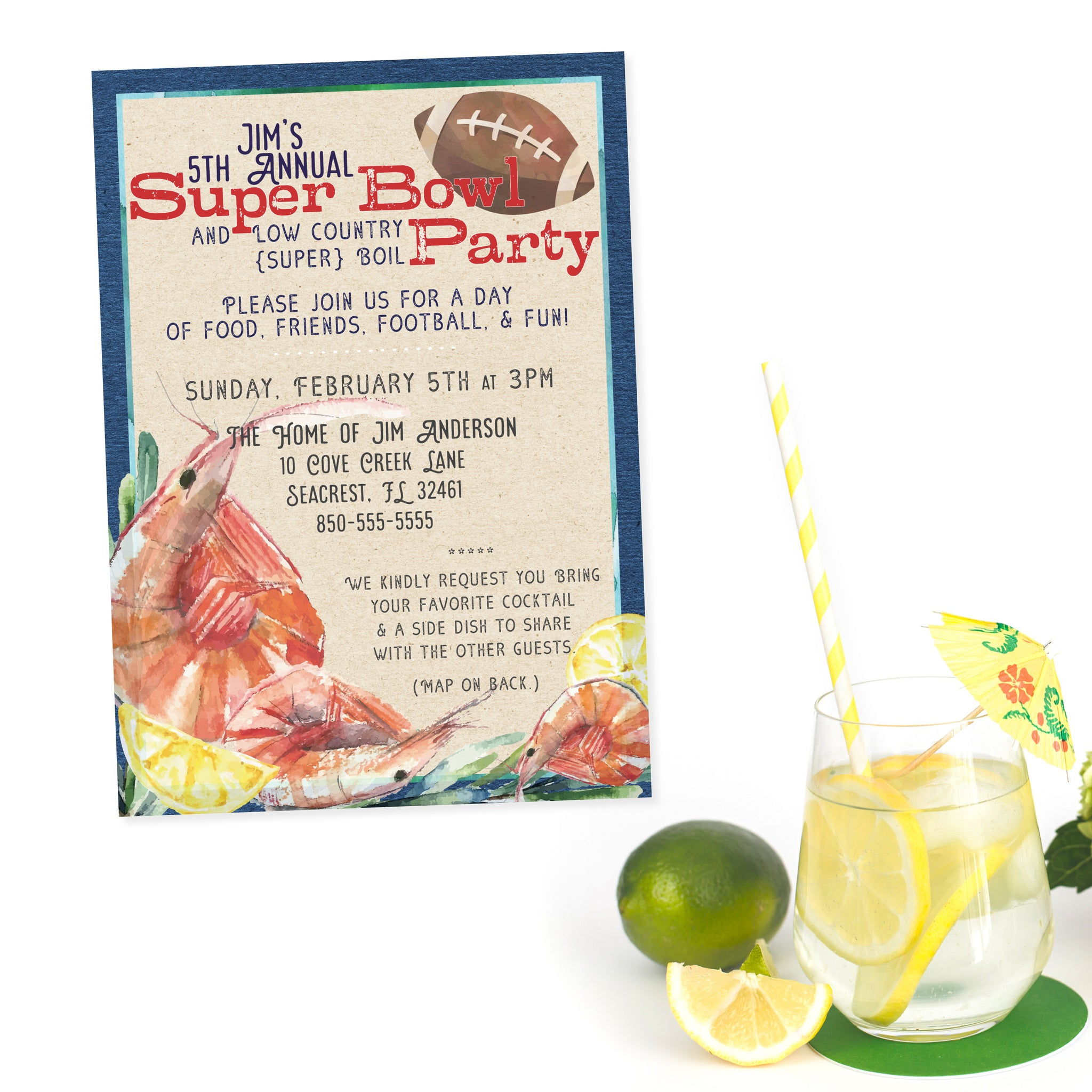 Adult Birthday and Party Invitations - Southern Sociable