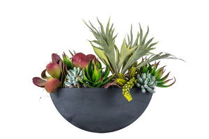 "Magnolia Collection 16""W x 6""H Half Round Metal AR1049"