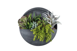"Magnolia Collection 12"" Round Galvanized Metal Wall Hanging AR1052"