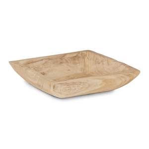 "15"" Square Sedona Wood Bowl  WD1002"