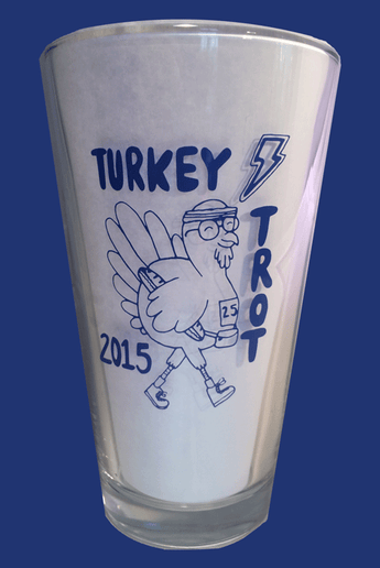 Pint Glass--Turkey Trot Commemorative (Tax free, S&H included.)