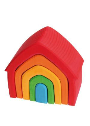 Grimm's Wooden Nesting Rainbow House