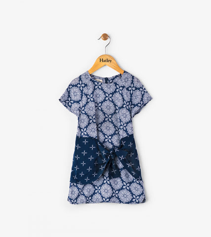 Hatley Blue Compass Tie Dress