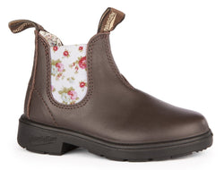 Blundstone Kids' Blunnies -Brown/Flowered Elastic