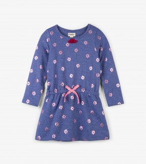 Hatley Metallic Flowers French Terry Dress