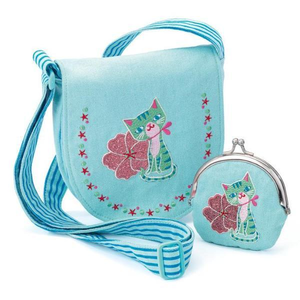 Djeco Bag and Purse - Embroidered Kitten