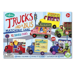 Eeboo Memory and Matching Game - Trucks and a Bus