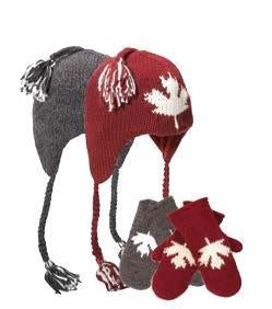 Delux Canadiana Mittens Burgundy - Kids