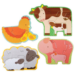 Petit Collage Beginner Puzzle - Farm Babies