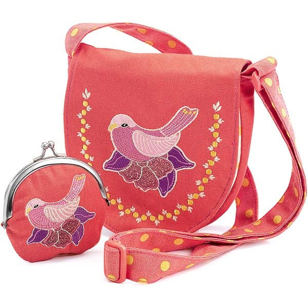 Djeco Bag and Purse - Embroidered Bird