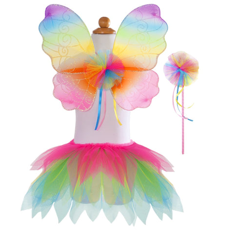 Great Pretenders Rainbow Skirt with Wings and Wand