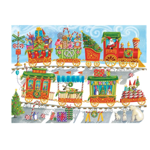 Cobble Hill Family Puzzle - Christmas Train