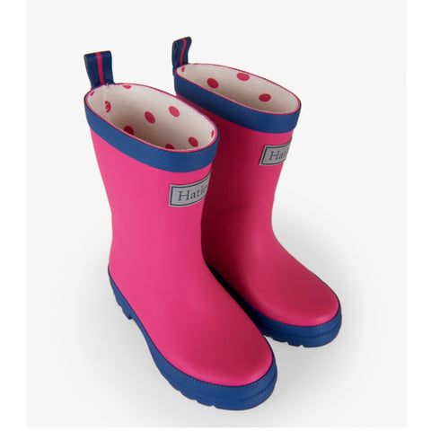 Hatley Rainboots - Fuchsia and Navy