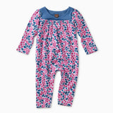 Tea Collection Blueberries Wrap Neck Romper