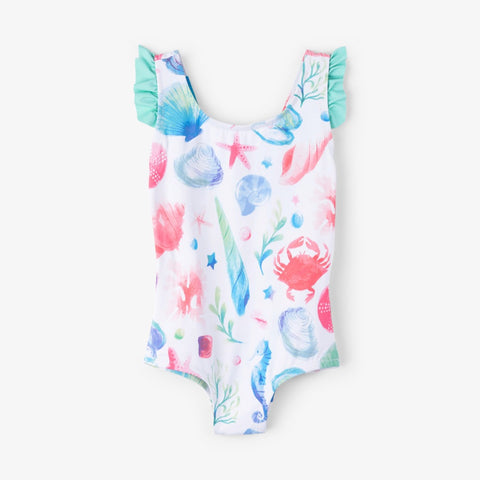 Hatley Ocean Treasures Ruffle Swimsuit