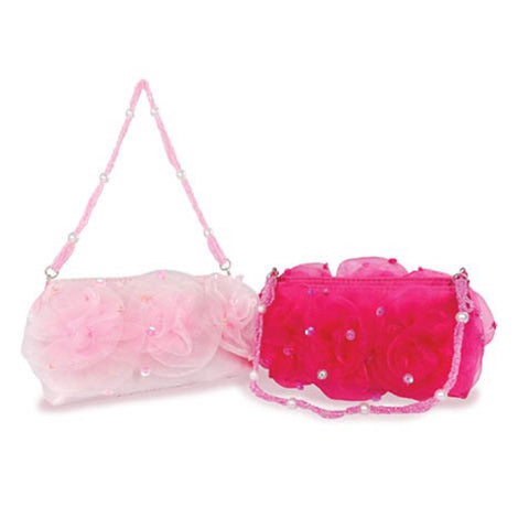 Great Pretenders Rose Puff Handbag - Lt Pink