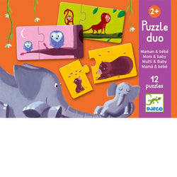 Djeco Puzzle Duo - Mom and Baby