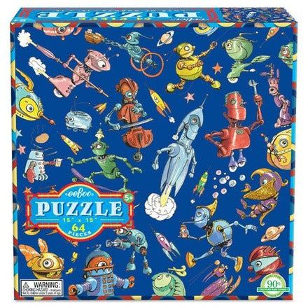 Eeboo Lots of Robots Puzzle - 64 pc