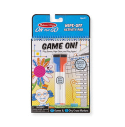 M&D Secret Game On! Wipe -Off Activity Pad