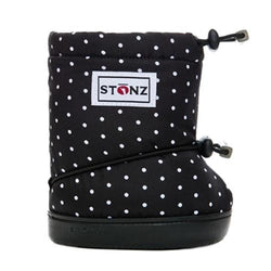 Stonz Booties Black and White Polka Dots