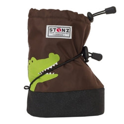 Stonz Booties Brown Crocodile