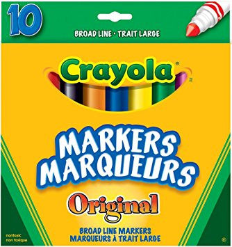 Crayola Broad Markers Original 10pack