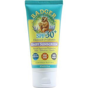 Badger Baby Sunscreen SPF 30 - Chamomille