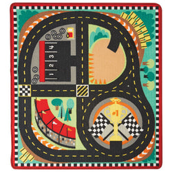 M&D Race Track Rug and Vehicle Set