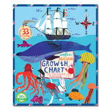 Eeboo Growth Chart - Big Blue Whale